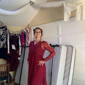 Sweet burgundy dress